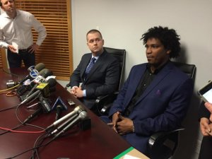 Jenrry Mejia and attorney Vincent White
