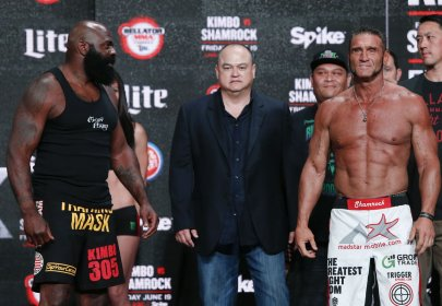 Ken Shamrock and Kimbo Slice Juice Up for Controversial Bellator 149