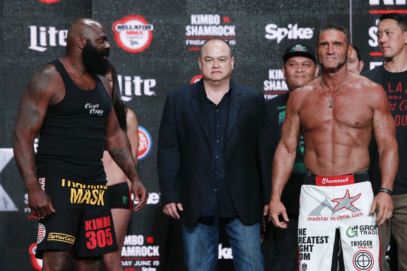 Ken Shamrock and Kimbo Slice Juice Up for Controversial Bellator 149