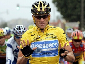 Seven-time Tour de France winner Lance Armstrong