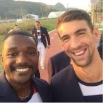 Michael Phelps and Justin Gatlin