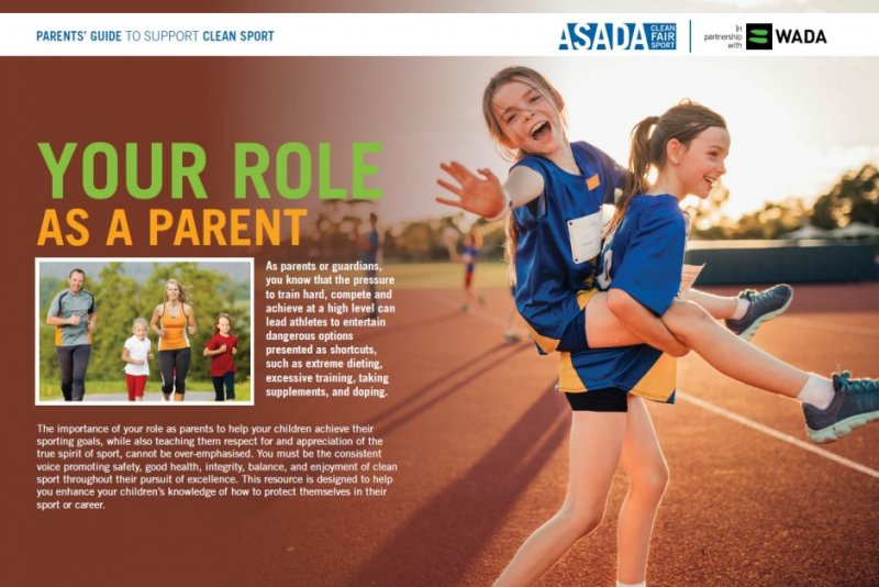 ASADA's Parents' Guide to Support Clean Sport