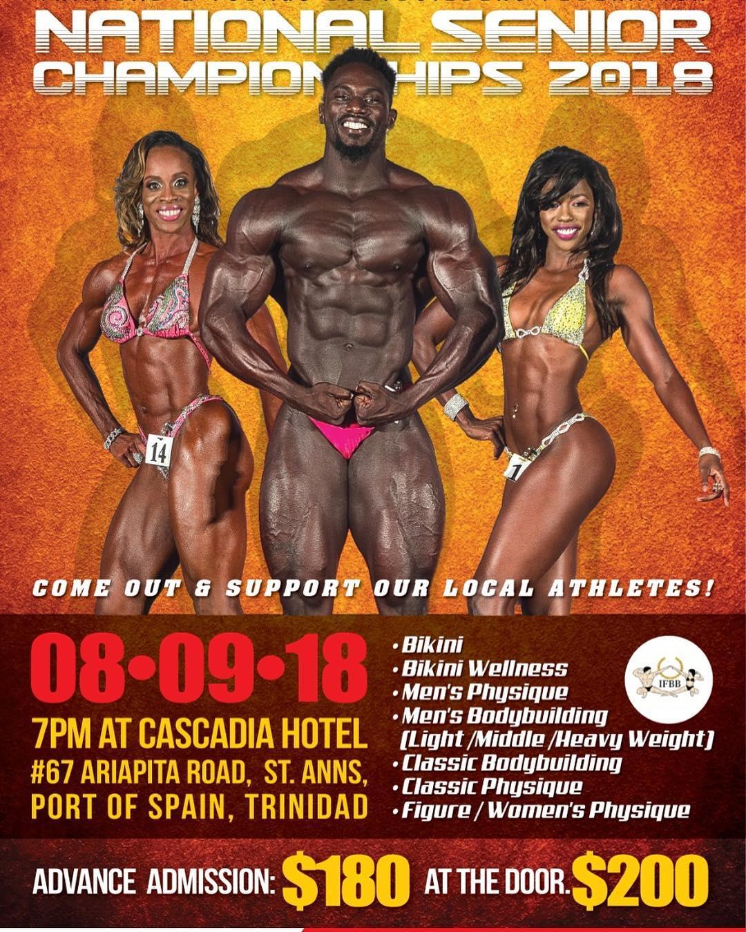 2018 Trinidad and Tobago Bodybuilders Federation (TTBF) Senior National Championships PHOTO